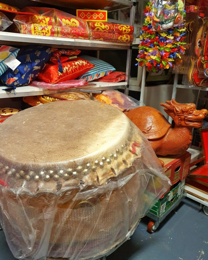 Photo of large Chinese New Year drum