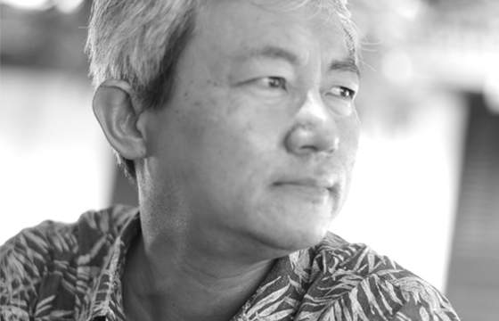 Black and white photo of Kim Cheng Boey