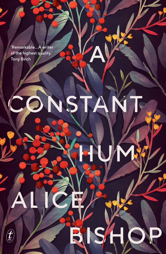 The cover of Alice Bishop's novel 'A Constant Hum'. It features an array of wildflowers.